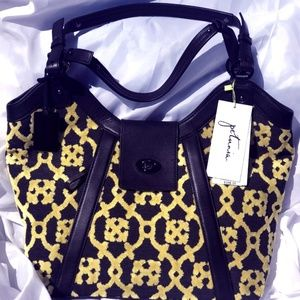 Petunia Black & Yellow Purse - NWT
